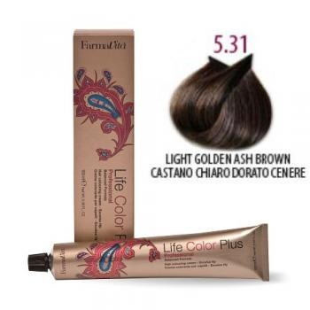 Life Color 5.31 Hellbraun Gold Asch